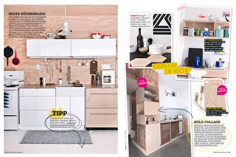 Aus Sperrholz lassen sich super DIY-Schränke oder Regale zimmern. In Skandinavien ein absoluter Trend!