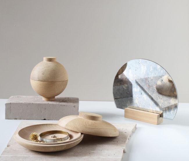 Holzschatulle Wooden Galaxy von Kristina Dam Wooden Sphere Eiche natur