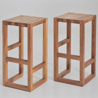 Design-Barhocker STEP aus Holz von vitamin design