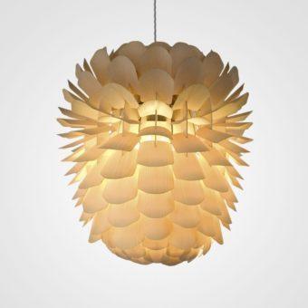 Designer-Pendelleuchte ZAPPY aus Holz von Schneid