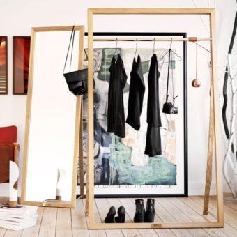 FRAMED RACK Garderobe aus Holz von Nordic Tales