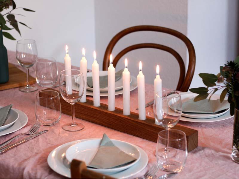 BRENNHOLZ von Raumgestalt - Wendbarer Kerzenhalter aus Holz