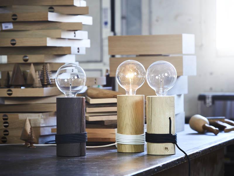 Geschenk im Industrial- Look: LOG LAMP von The Oak Men - Stehleuchte im rustikalen Design