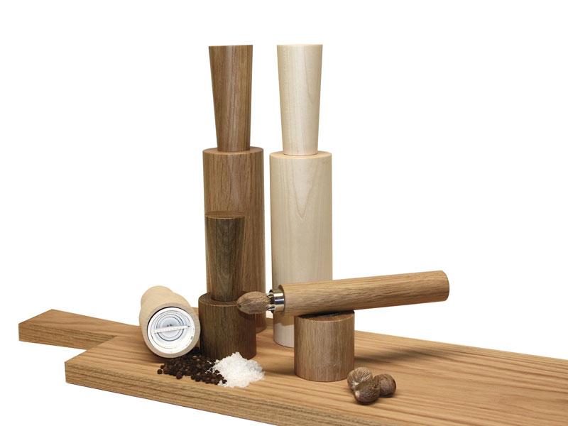 Salz- und Pfeffermühle von Raumgestalt in Eiche oder Ahorn