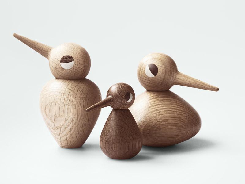 Charmantes Geschenk - Vogelfamilie BIRD von Architectmade aus Eichenholz