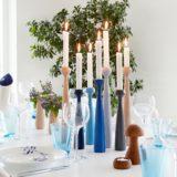 Kerzenhalter zur Dekoration aus dem Esstisch von applicata - BLOSSOM
