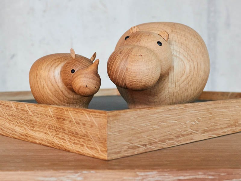 Dekorative Ablage FLIP TRAY von The Oak Men mit Holztieren von WOUD