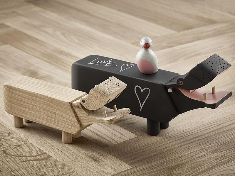 Holztier Nilpferd HIPPO für die Hochzeitswunschliste von Kay Bojesen