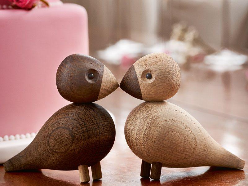 LOVEBIRDDS von Kay Bojesen - Holzfiguren für die Hochzeitswunschliste