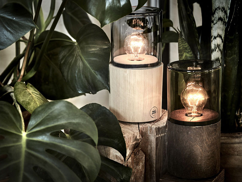 Glühbirnen Lampen LANTERN von The Oak Men aus Eiche