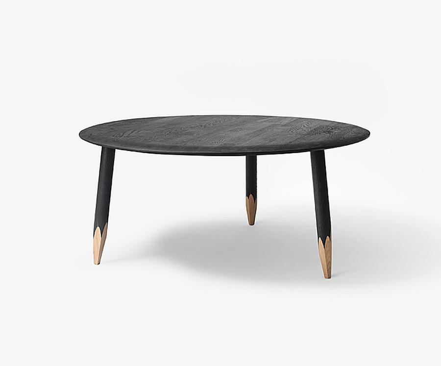 runder couchtisch hoof table sw2 von tradition. Black Bedroom Furniture Sets. Home Design Ideas
