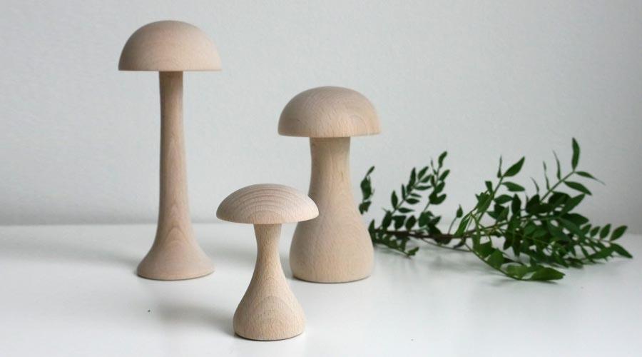 deko pilze funghi von applicata i holzdesignpur. Black Bedroom Furniture Sets. Home Design Ideas