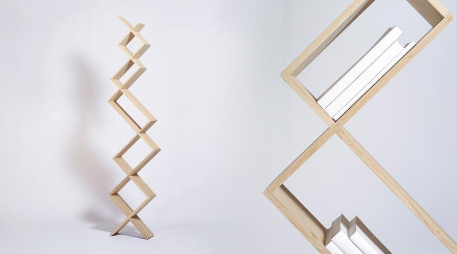 design b cherregal aus holz croisements von drugeot labo. Black Bedroom Furniture Sets. Home Design Ideas