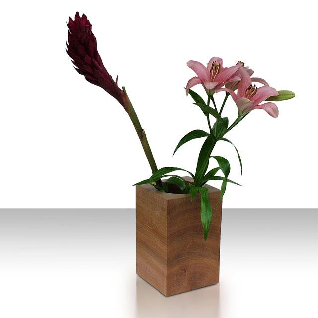 moderne deko vase aus holz designer holzvase ep 22 von uniic. Black Bedroom Furniture Sets. Home Design Ideas