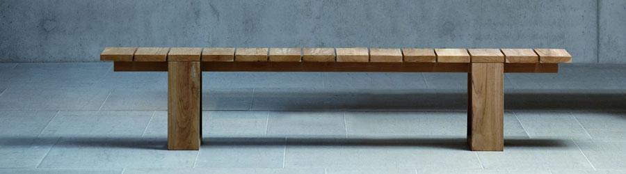 Gartenbank holz ohne lehne  Moderne Gartenbänke aus Holz I HolzDesignPur