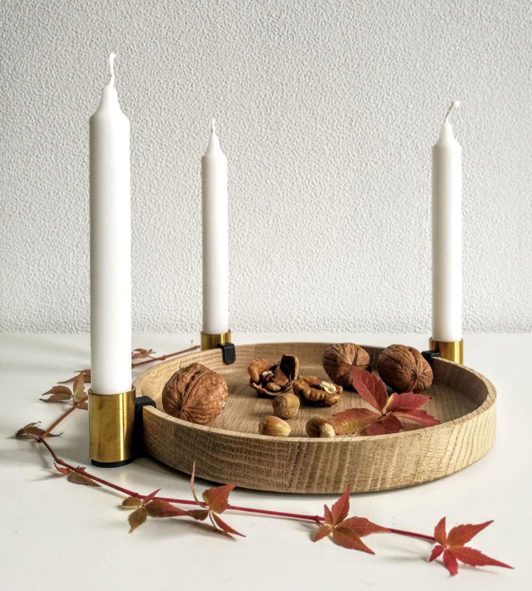 kerzenhalter luna von applicata i holzdesignpur. Black Bedroom Furniture Sets. Home Design Ideas