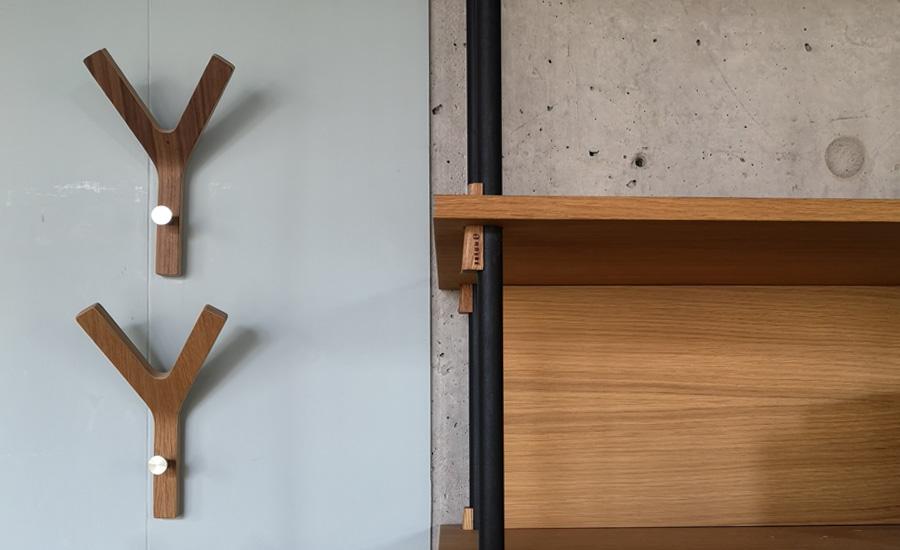 Rohholz, L LJSLYJ Wandhaken Holz Garderobenhaken aus Massivholz Universalschraube