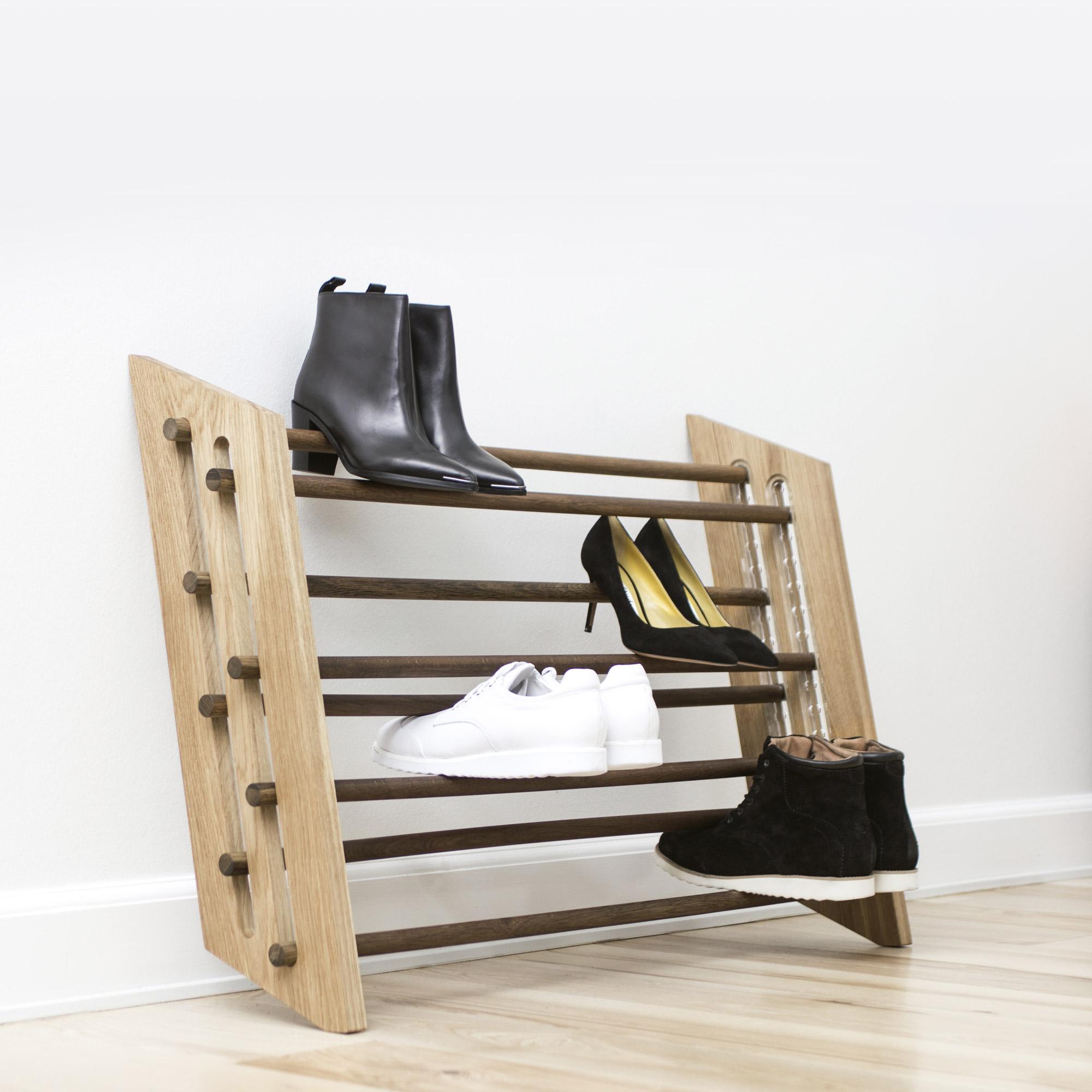 schuhregal moodstand von roon rahn i holzdesignpur. Black Bedroom Furniture Sets. Home Design Ideas