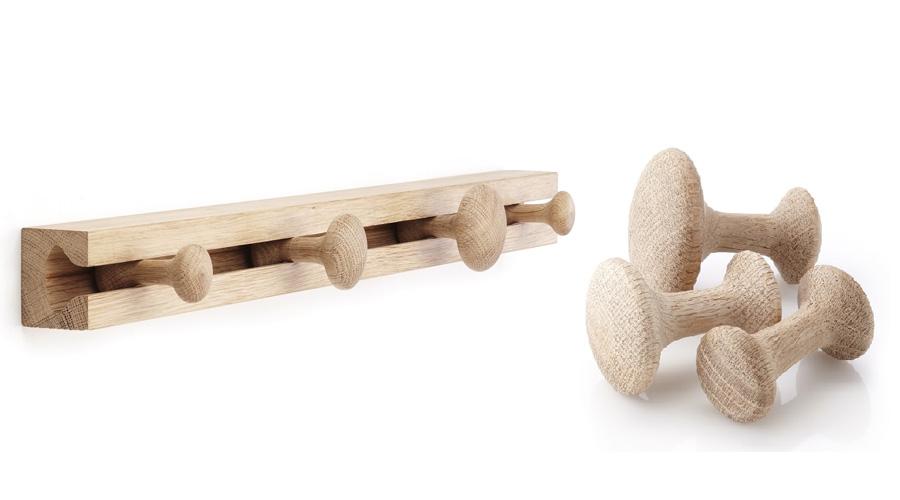 kleiderhaken track von applicata i holzdesignpur. Black Bedroom Furniture Sets. Home Design Ideas
