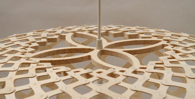 ovale designerlampe aus holz kina von david trubridge. Black Bedroom Furniture Sets. Home Design Ideas