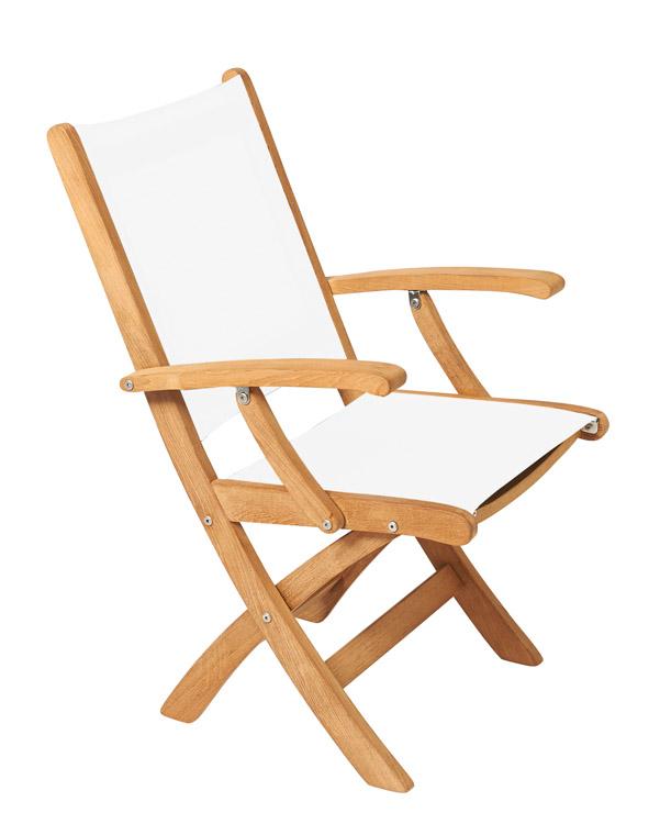 klappstuhl mit armlehnen von traditional teak i holzdesignpur. Black Bedroom Furniture Sets. Home Design Ideas