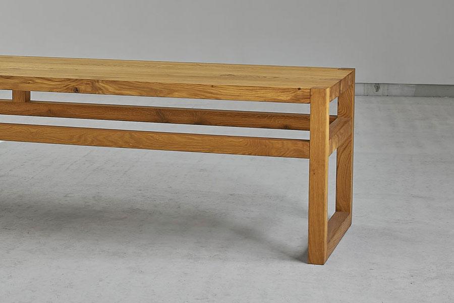 einfache sitzbank sena aus massivem holz von vitamindesign. Black Bedroom Furniture Sets. Home Design Ideas