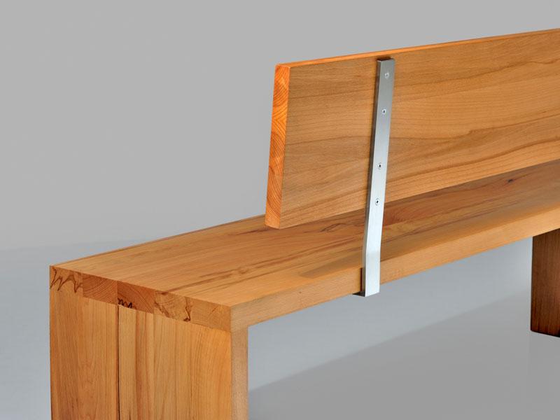 sitzbank mena mit r ckenlehne von vitamindesign. Black Bedroom Furniture Sets. Home Design Ideas