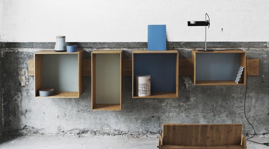 design wandregal aus bambus sj bookcase wedowood. Black Bedroom Furniture Sets. Home Design Ideas