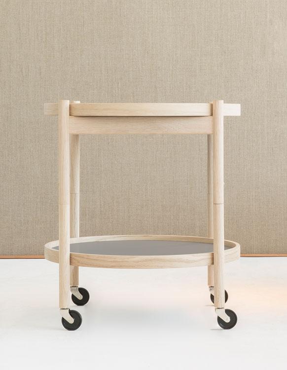 runder servierwagen tray table 50 von brdr kr ger. Black Bedroom Furniture Sets. Home Design Ideas