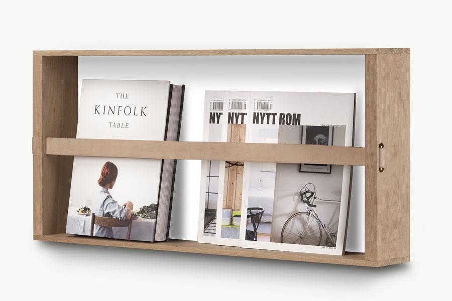 magazinhalter norr von skagerak i holzdesignpur. Black Bedroom Furniture Sets. Home Design Ideas